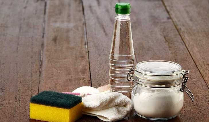 Сода губка тряпка зубная щетка уксус