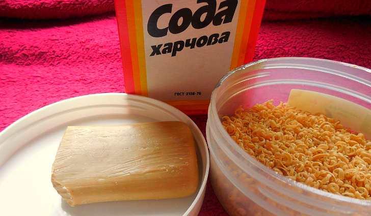 Натрий двууглекислый и хозяйственное мыло