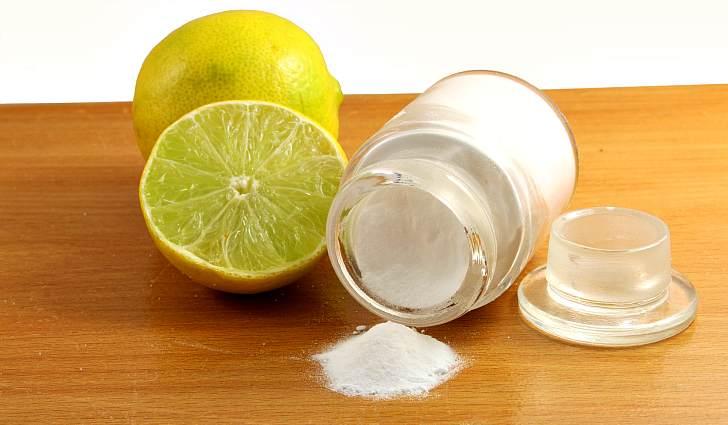 Гидрокарбонат натрия и лимон