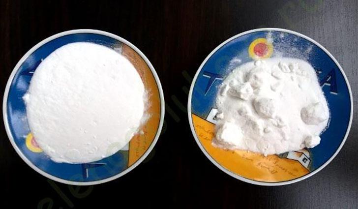 Сравнение обычной пищевой соды и очищенной